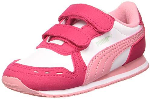 Puma Unisex Baby Cabana Racer Sl V Inf Sneaker, Weiß White-Bright Rose-Peony, 23 EU
