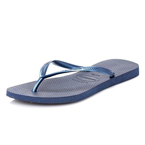 Havaianas Damen Slim Zehentrenner, Blau (Navy Blue 0555), 37/38 EU