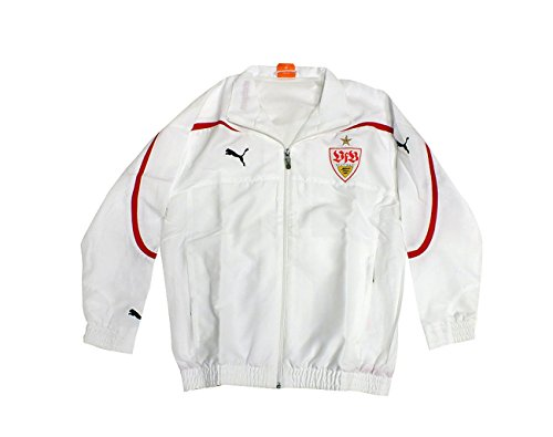 Puma VFB Stuttgart Trainingsjacke 737566 weiß 01 Kids , Farbe:weiß, Textilien Größen:140