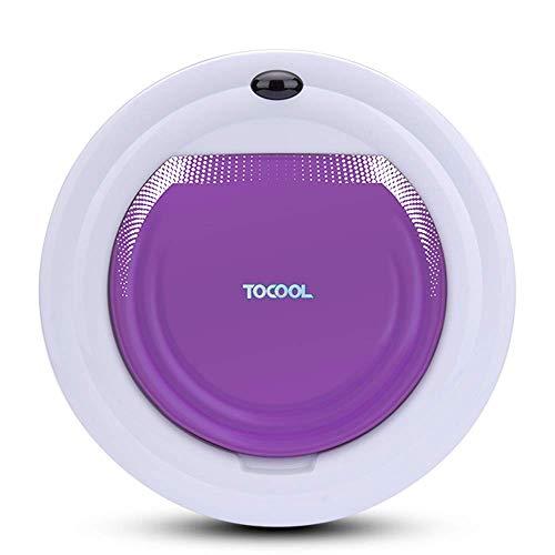 Aspiradora Robot, Robot de Barrido casa Inteligente automática, Anti-caída automático/Aspirador Anti-colisión, Adecuado for Suelos Duros y alfombras, púrpura ZHW345 (Color : Purple)