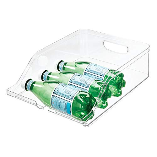 iDesign Guardar frigorífico, Caja de plástico Libre de BPA, Organizador de Botellas para la Cocina, Transparente, 35,6 cm x 26,4 cm x 9,5 cm