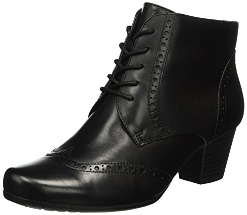 CAPRICE Damen 25101 Kurzschaft Stiefel, Schwarz (Black 1), 36