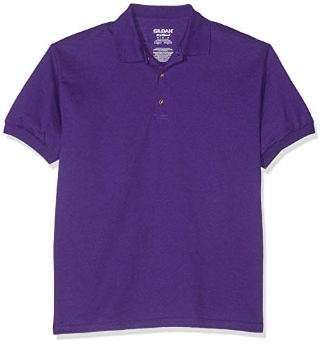 Gildan 8800 Mens Short Sleeve DryBlend Jersey Polo Shirt - Purple - Large