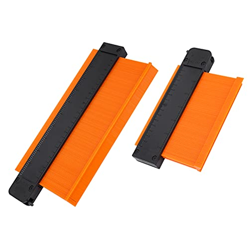 Calibre de contorno: 2 piezas de 6 pulgadas + 10 pulgadas Calibre de reproducción de calibre de contorno con bloqueo Copia precisa Formas irregulares