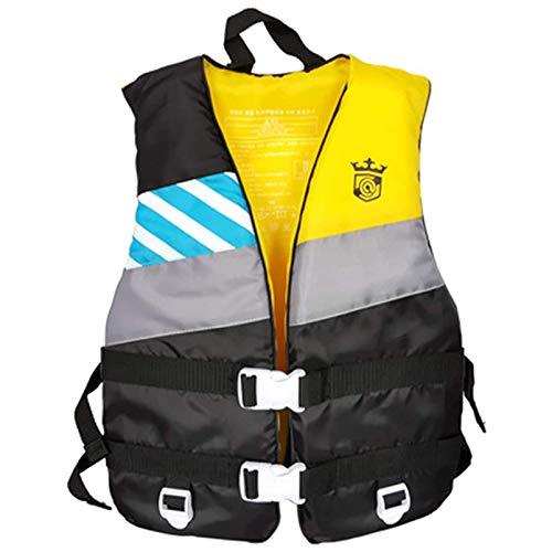 Yeah-hhi Chaleco Salvavidas De Neopreno Buoyancia Natación En Barco por La Navegación Chaleco De Agua Ropa De Salvamento De La Vida para Adultos,Amarillo