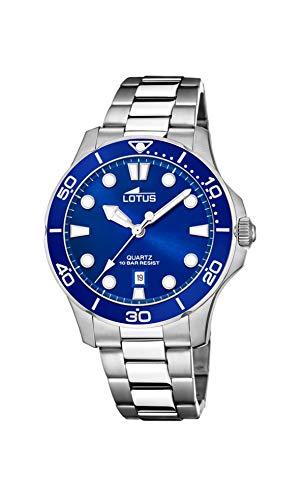 LOTUS Reloj Modelo 18762/1 de la colección Excellent, Caja de 38,5 mm Azul con Correa de Acero para señora