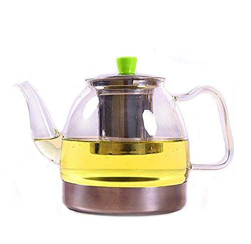 JiangKui Tetera de Vidrio Transparente Calefacción Directa Tetera Resistente Al Calor Tetera de Vidrio de Borosilicato Tetera de Gran CapacidadD3