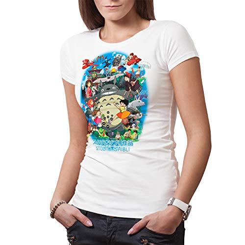 DibuNaif Camiseta Mujer Homenaje Studio Ghibli