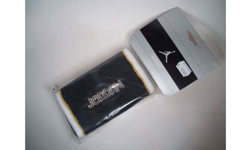Nike Air Jordan Wrist Band Sudore Nastri 2 PCS AC0475-005 Nero & Bianco Taglia Unica/One Size