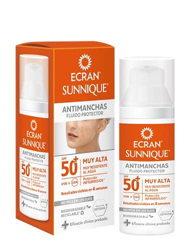 Ecran Sunnique - Fluido Solar Protector Antimanchas SPF 50, Resultados en 4 Semanas - 50 ml