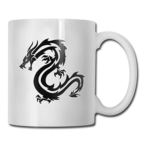 Taza de dragón enojado, taza de café para bebidas calientes, taza de gres, taza de café de cerámica, taza de té de 11 oz, regalo divertido, taza de té y café