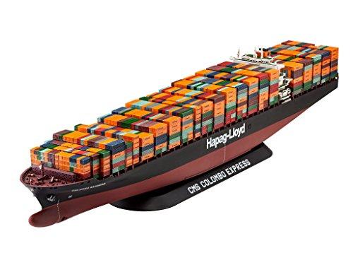 Revell Maqueta de Container Ship COLOMBO EXPRESS, Kit modello, escala 1:700 (5152) (05152), 47,9 cm de largo , color/modelo surtido