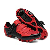 Tzhoutdoor Mens Outdoor Sports Cycling Shoes MTB/Mountain Men Bike Shoes SPD Compatible 2-Bolt Red Size 11.5