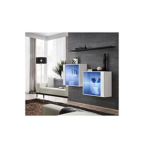 ASM Ensemble TV - 3 éléments - Blanc et Noir