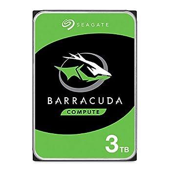 Seagate BarraCuda 3TB Internal Hard Drive HDD – 3.5 Inch SATA 6 Gb/s 7200 RPM 64MB Cache for Computer Desktop PC  ST3000DM008