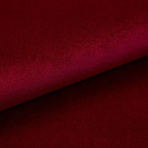 Velvet Krono, weich und elegant, Samtstoff, Möbelstoff, Polsterstoff Möbel Sitzbezug Stoff, Meterware - Burgund 02