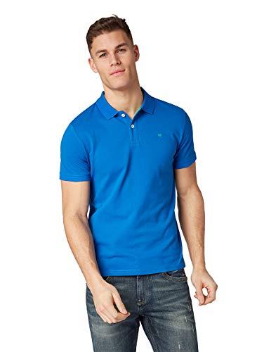 TOM TAILOR Herren Basic Poloshirt, Blau (Simply Blue 11582), XXX-Large