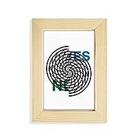 デスクトップの木製のフォトフレーム画像芸術絵画5 x 7インチ