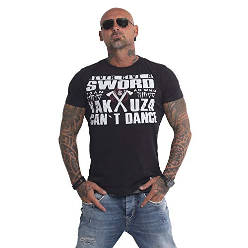 Yakuza Herren Sword T-Shirt, Schwarz, L