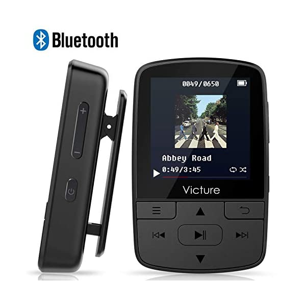 Victure MP3 Player Clip Bluetooth 8G with FM Radio Sport Pedometer Voice Recorder Earphones Expandable up to 128GB 3