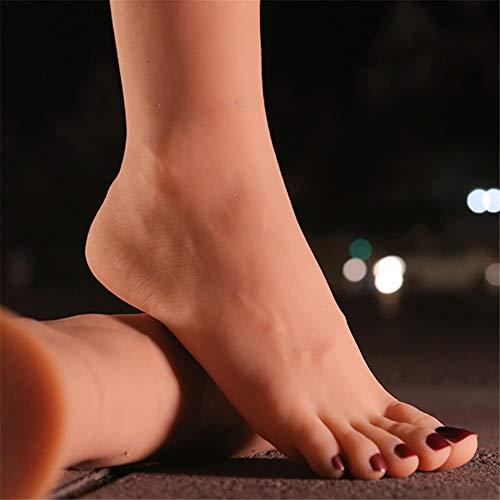 NCBH Silikonfüße, Fussmodell Silikon, Fuss Model, Foot Fetish, Fußfetisch, Weibliche Fußfüße Modell Schaufensterpuppe mit einem Geheimgang Oben am Fuß,Hole on top,B