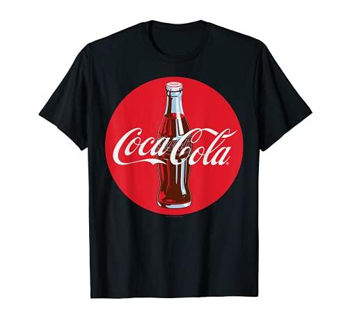 Coca-Cola Red Circle Retro Bottle Logo Graphic T-Shirt