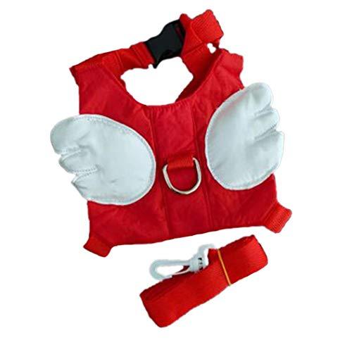 AMOYER Kleinkind Leine Und Harness Kinder Wandern Sicherheits-Produkt Nette Flügel, Form, Rot
