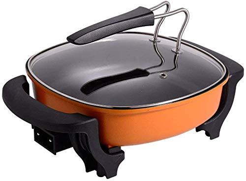 Elektrische Hot Pot Multifunctionele Vierkante Pot Fry Koken Wok Antiaanbaklaag Barbecue Huishoudelijke Slaapzaal (Upgrade)