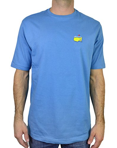 Masters Men's T Shirt Augusta Collection Tournament Official Logo 2014 Tee, Light Blue, Size Small