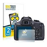 BROTECT Protector Pantalla Anti-Reflejos Compatible con Canon EOS 1300D (2 Unidades) Película Mate Anti-Huellas