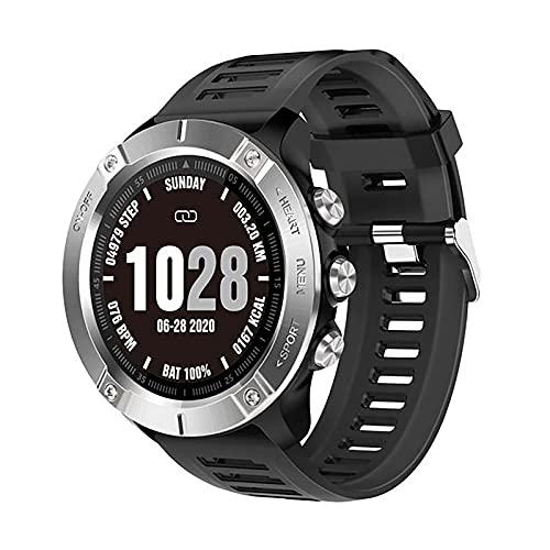 ZGZYL Reloj de Reloj de Reloj Inteligente para Hombres con esfigmomanómetro y Monitor de Ritmo cardíaco IP68 Rastreador de Actividades de Bluetooth Impermeable a Prueba de Agua iOS Android,B