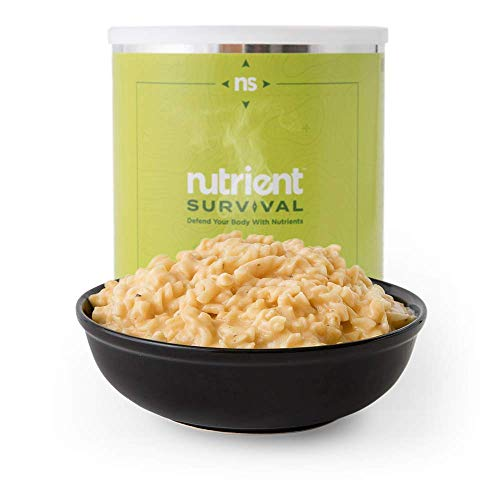 Nutrient Survival Triple Cheese Mac | Non-perishable #10 Can | 25 Year Shelf Life | Freeze Dried Emergency Food Storage