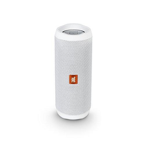 JBL FLIP4 Bluetoothスピーカー IPX7防水/パッシブラジエーター搭載/ポータブル ホワイト JBLFLIP4WHT 【国内正規品】の写真