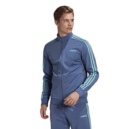 adidas Herren Essentials 3-Streifen Tricot Trainingsjacke, Herren, Jacke, FSG48, Crew Blue, Medium
