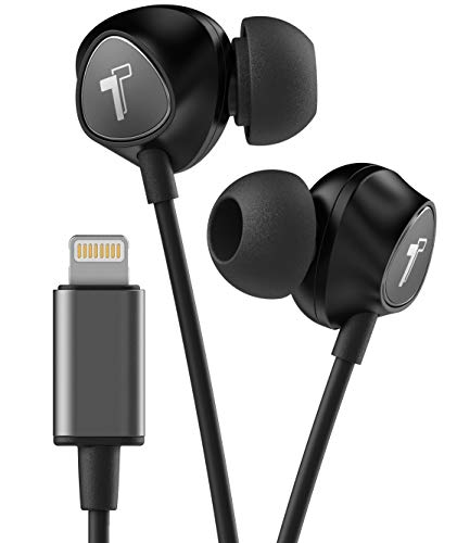Thore Wired iPhone Headphones with Lightning Connector Earphones - MFi Certified by Apple Earbuds (Black) Wired in Ear w/Remote Microphone Volume (w/Mic) for iPhone XR, XS Max, 11, 11 Pro Max,7,8 Plus