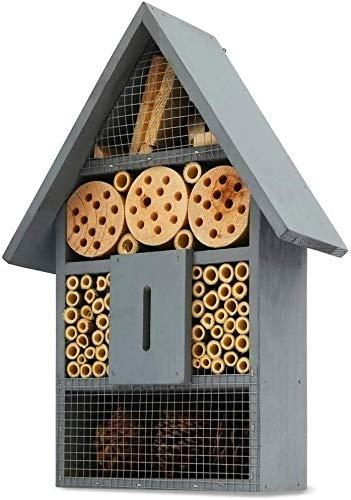 Ancokig Casetta per Insetti in Materiali Naturali, casetta per api e Coccinelle con Farfalle, per Diversi Insetti Volanti, casetta per Insetti Naturale (Blu)