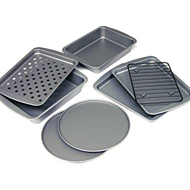 OvenStuff 8-Piece Personal-Size Toaster Oven Bakeware Set