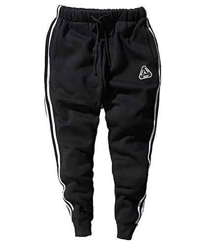 Minetom Uomo Cappuccio Maglione Moda Hip Hop Streetwear Felpa Sport Hoodies Con Sportivi Casual Danza Pantaloni Allenamento Running Jogging Pantaloni Pantaloni02 EU M