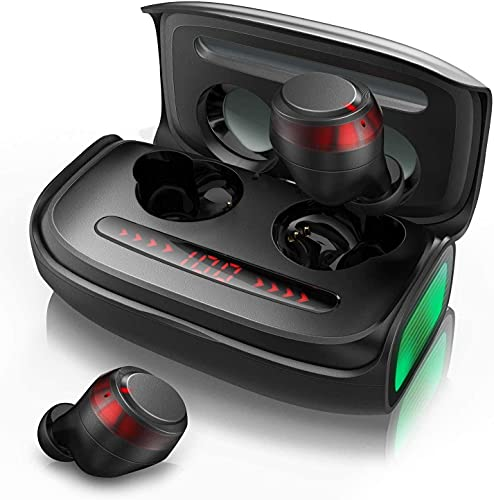 True Wireless Earbuds, Votomy Qualcomm QCC3020 Bluetooth 5.0 Wireless Headphones in-Ear with CVC 8.0 Call Noise Cancelling, 150H Playtime, IPX7 Waterproof, LED Display, Dual Mic and USB-C Fast Charge