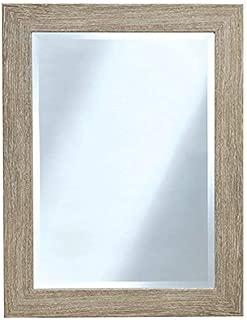 Beachwood Finish Rectangle Wall Mirror - Made in USA
