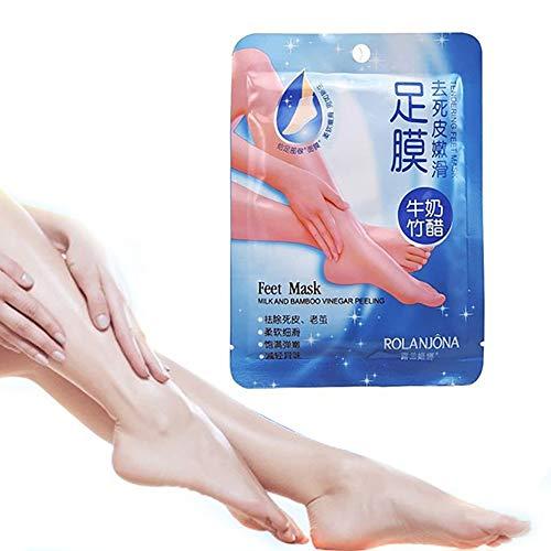 1 paire de pieds de lait masque exfoliant pied Peel masque pieds réparation traitement enlever la peau morte lisse exfoliant soin pied masque pour homme femmes