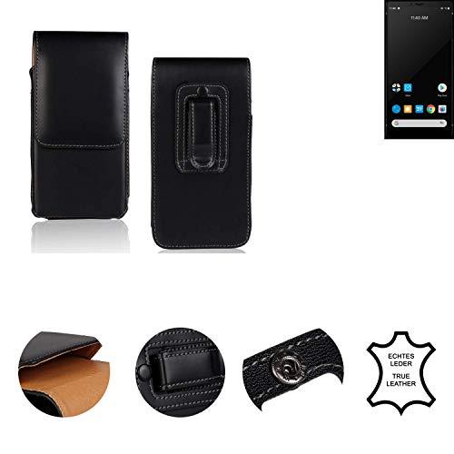 K-S-Trade® Holster Gürtel Tasche Für Carbon 1 MKII Handy Hülle Leder Schwarz, 1x