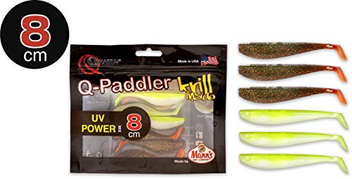 Quantum Q-Paddler Packs UV Power Mix, Magic motorolie + 3X Citrus shad, 8 cm