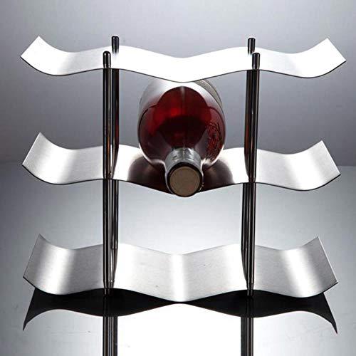 3-lagen roestvrijstalen rode wijnfleshouderhouder Beugel Thuis Bar Gereedschap Wijngadget, Zoals getoond