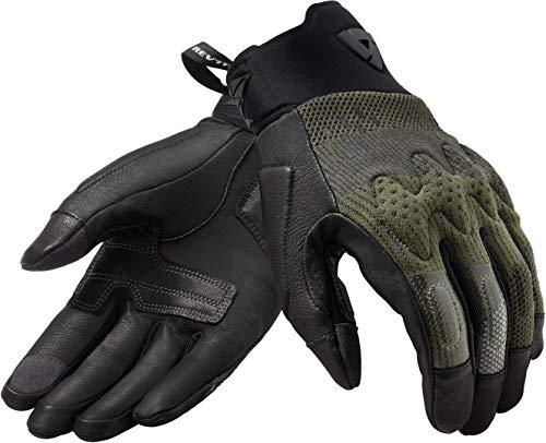 FGS161-1700-L - Rev It Kinetic - Guantes de moto (talla L), color negro y marrón