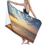 Grande Suave Ligero Microfibra Toalla de Baño Manta,Impresión del Viaje de la Luna de Miel del mar del Paisaje,Hoja de Baño Toalla de Playa por la Familia Hotel Viaje Nadando Deportes,52' x 32'