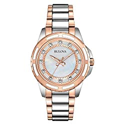 98P134 Diamond Collection Stainless Steel Case And Bracelet Watch
