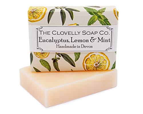 Clovelly Soap Co Natürliche handgemachte Seife für alle Hauttypen Eukalyptus, Zitrone & Minze 100g