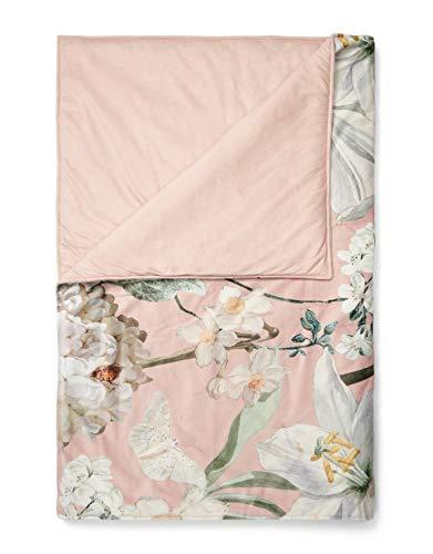ESSENZA Quilt Rosalee Blumen Polyester Blush, 220x265 cm