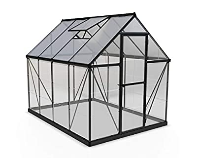 Palram HG5508G-1B Hybrid Greenhouse, 6' x 8' x 7', Silver